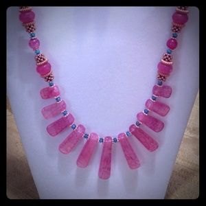 Fuschia Agate 2pc Set